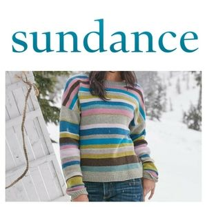 Sundance Joyful Stripe Lambs & Merino Wool Sweater